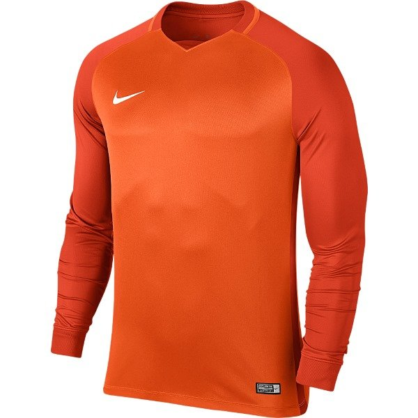 Nike Trophy III LS Football Shirt Safety Orange/Team Orange