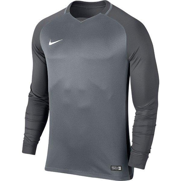 Nike Trophy III LS Football Shirt Cool Grey/Dark Grey Youths
