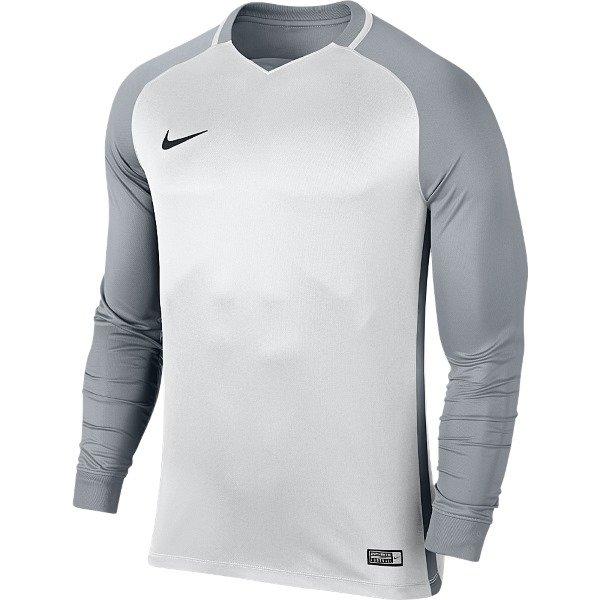 Nike Trophy III LS Football Shirt White/Wolf Grey XL Youths