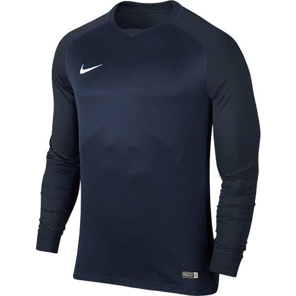 Nike Trophy III LS Football Shirt Mid Navy/Dark Obsidian Youths