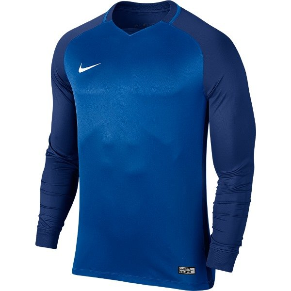 Nike Trophy III LS Football Shirt Royal Blue/Deep Royal Blue XL Youths