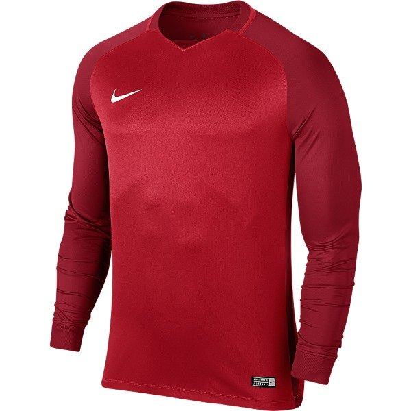 Nike Trophy III LS Football Shirt University Red/Gym Red Youths