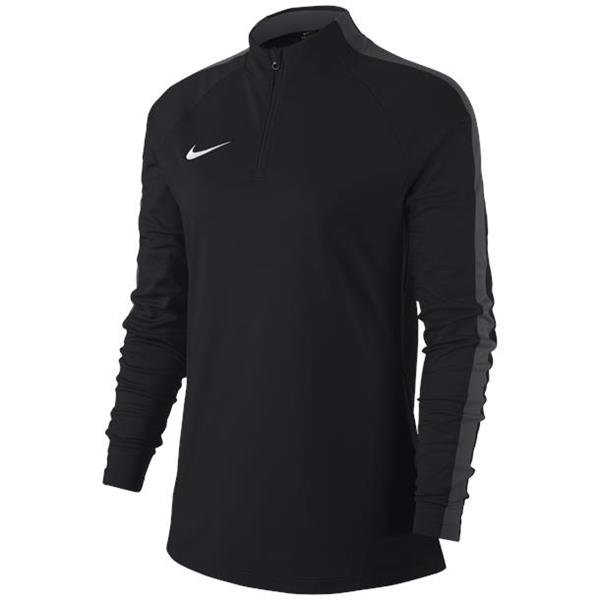 Nike Womens Academy 18 Drill Top White/black