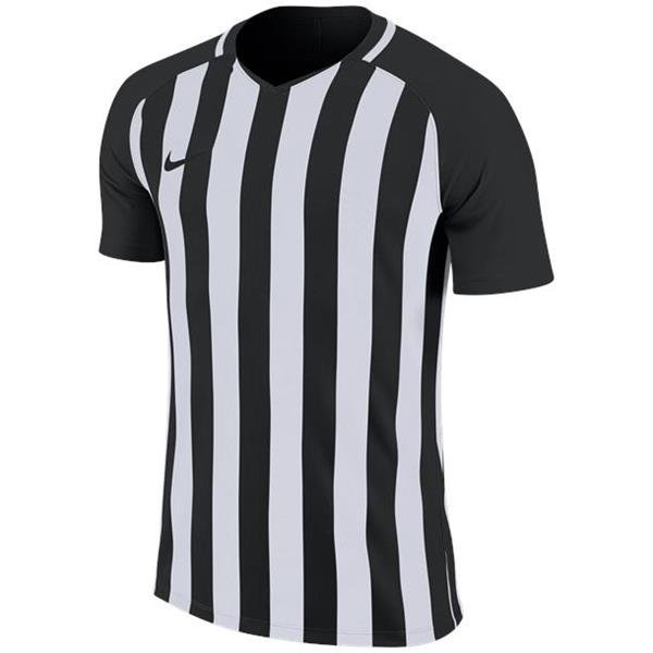 Nike Striped Division III SS Football Shirt White/wolf Grey