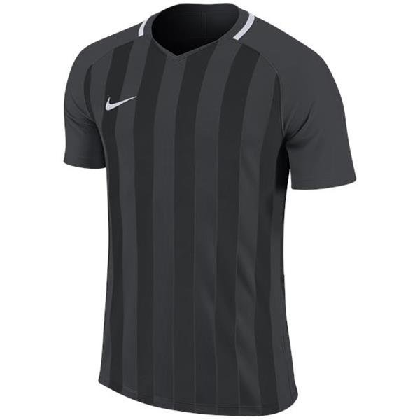 Nike Striped Division III SS Football Shirt Anthracite/Black