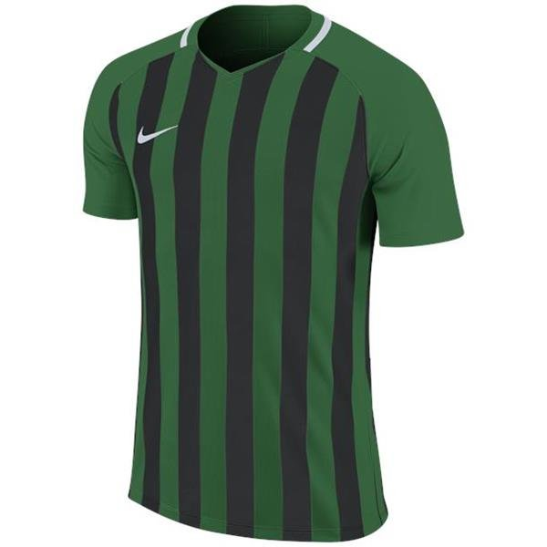 Nike Striped Division III SS Football Shirt Pine Green/Black