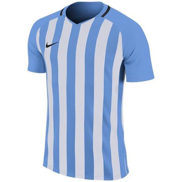 Nike Striped Division III SS Football Shirt Uni Blue/White