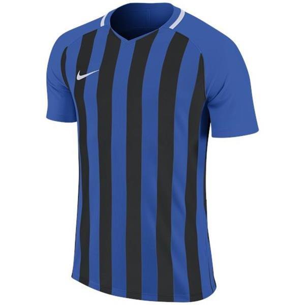 Nike Striped Division III SS Football Shirt Royal Blue/Black