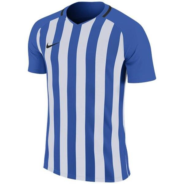 Nike Striped Division III SS Football Shirt Royal Blue/White