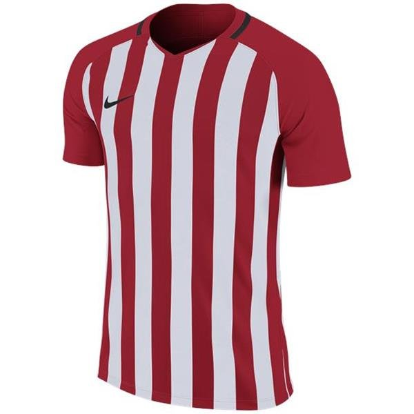 Nike Striped Division III SS Football Shirt Uni Red/White