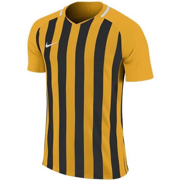 Nike Striped Division III SS Football Shirt Uni Gold/Black