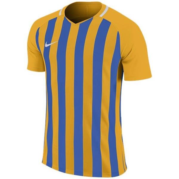 Nike Striped Division III SS Football Shirt Uni Gold/Royal
