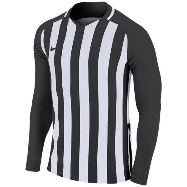 Nike Striped Division III LS Football Shirt White/wolf Grey