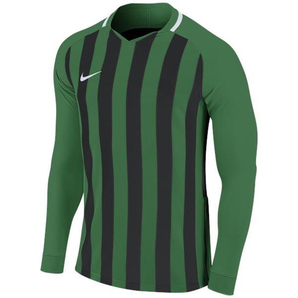 Nike Striped Division III LS Football Shirt Pine Green/Black