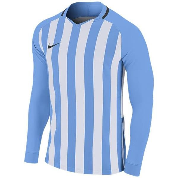 Nike Striped Division III LS Football Shirt Uni Blue/White