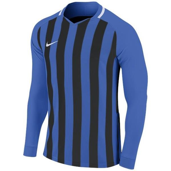 Nike Striped Division III LS Football Shirt Royal Blue/Black