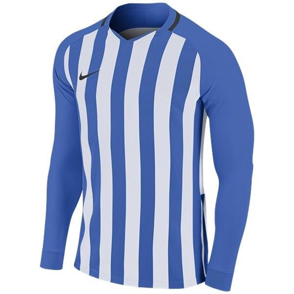 Nike Striped Division III LS Football Shirt Royal Blue/White