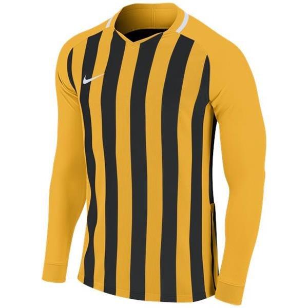 Nike Striped Division III LS Football Shirt Uni Gold/Black