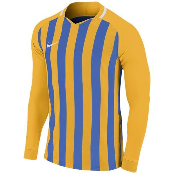 Nike Striped Division III LS Football Shirt Uni Gold/Royal