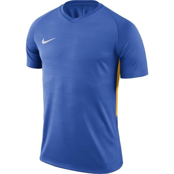 Nike Tiempo Premier SS Football Shirt Royal Blue/Uni Gold