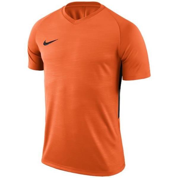 Nike Tiempo Premier SS Football Shirt Safety Orange/Black