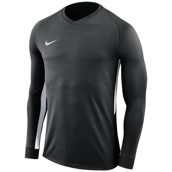 Nike Tiempo Premier LS Football Shirt Black/white