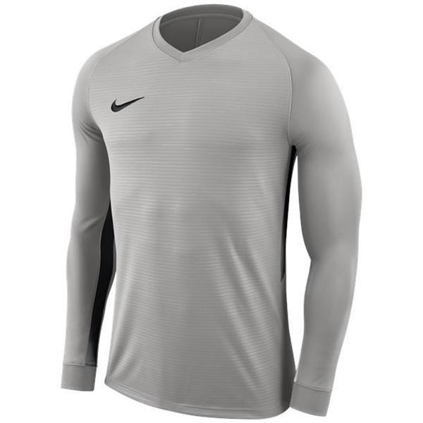Nike Tiempo Premier LS Football Shirt Pewter Grey/Black