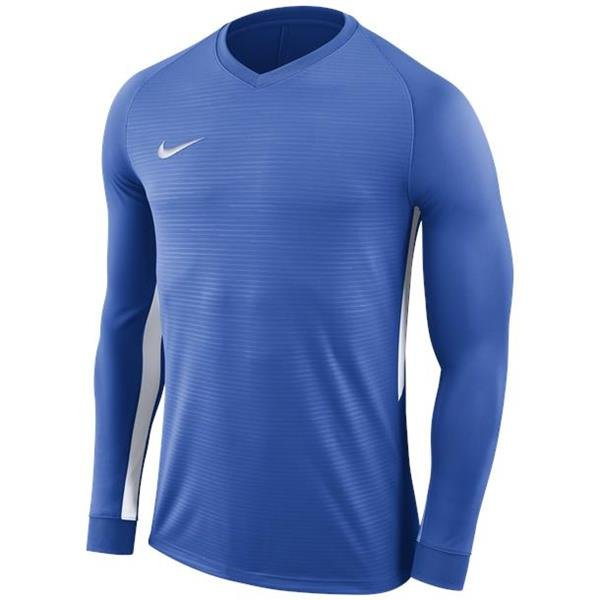 Nike Tiempo Premier LS Football Shirt Royal Blue/White