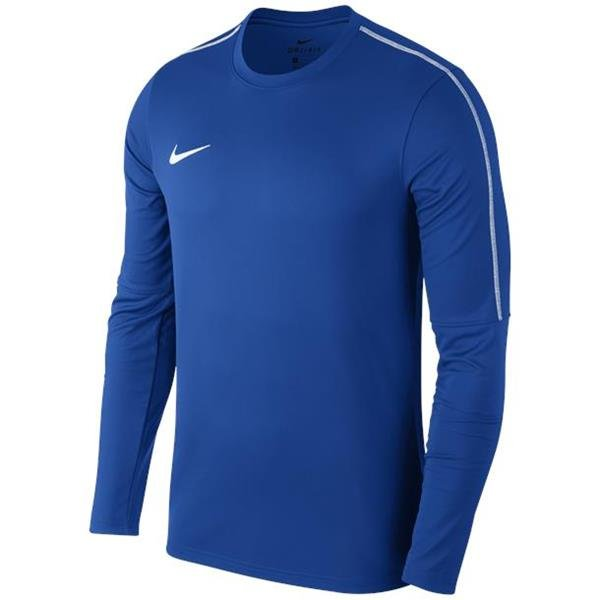 Nike Park 18 Royal Blue/White Drill Top Crew Youths