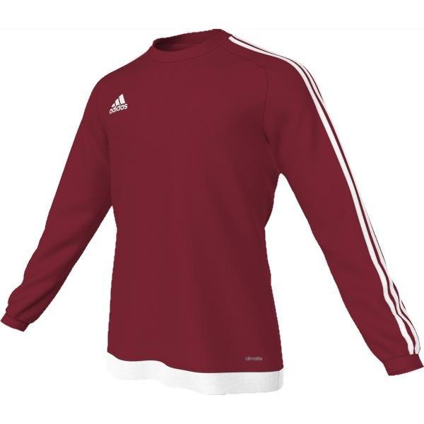 adidas Estro 15 LS Power Red/White Football Shirt Youths