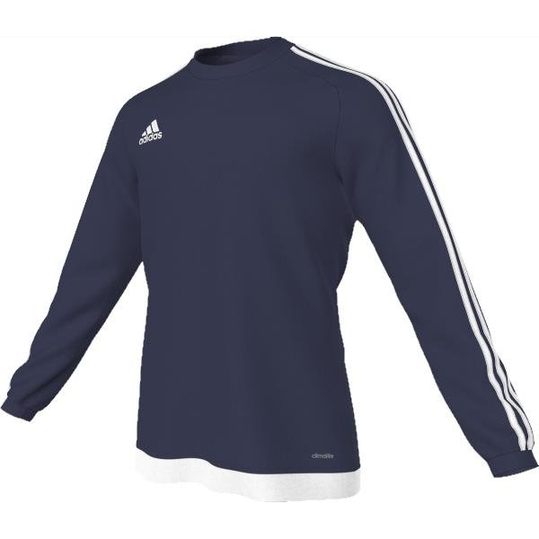 adidas Estro 15 LS Dark Blue/White Football Shirt