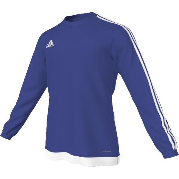 adidas Estro 15 LS Bold Blue/White Football Shirt