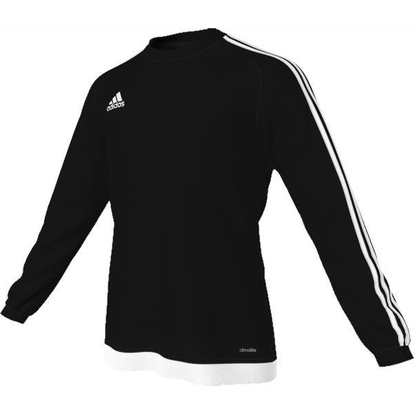 adidas Estro 15 LS Black/White Football Shirt Youths