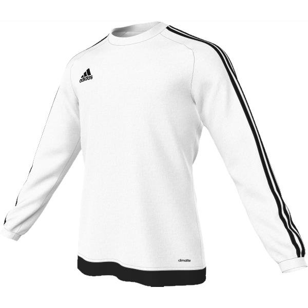 adidas Estro 15 LS White/Black Football Shirt Youths