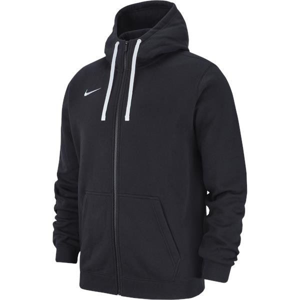 Nike Team Club 19 Full Zip Hoodie Black/White