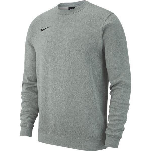 Nike Team Club 19 Crew Grey Heather/Black