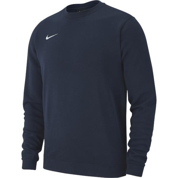 Nike Team Club 19 Crew Obsidian/White
