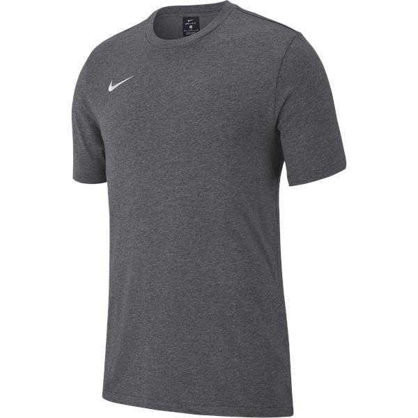 Nike Team Club 19 Tee Charcoal/White Youths