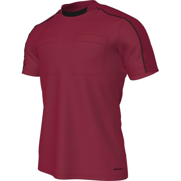 adidas Referee 16 Shock Red/Black Short Sleeve Jersey