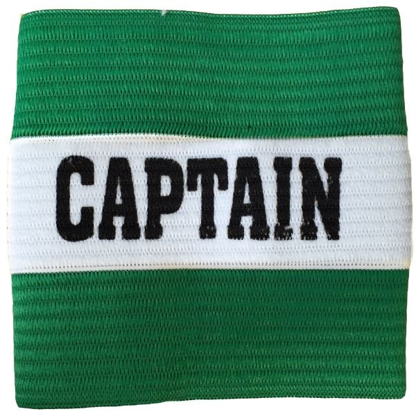 Junior Captain Armband Green/White