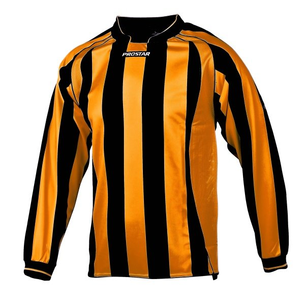 Prostar Avellino Black/Amber Football Shirt