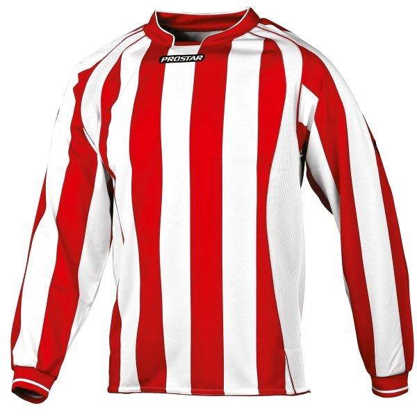 Prostar Avellino Scarlet/White Football Shirt