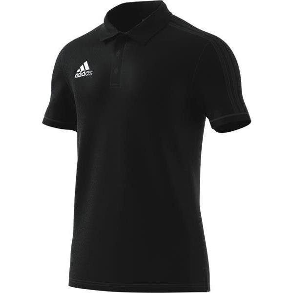 adidas Tiro 17 Black/Dark Grey Cotton Polo