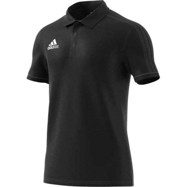 adidas Tiro 17 Black/Dark Grey Cotton Polo Youths