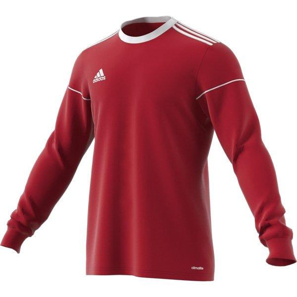 adidas Squadra 17 LS Power Red/White Football Shirt
