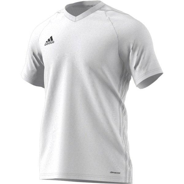 adidas Tiro 17 White/White Football Shirt Youths