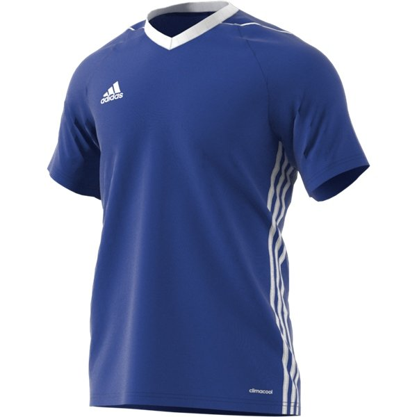 adidas Tiro 17 Bold Blue/White Football Shirt Youths