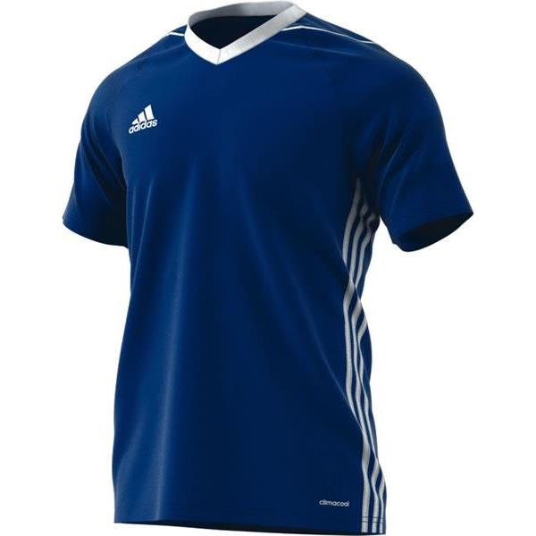 adidas Tiro 17 Bold Blue/White Football Shirt