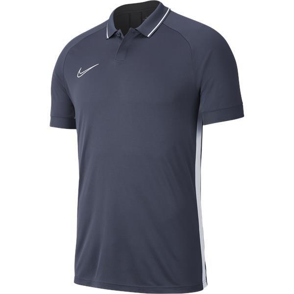 Nike Academy 19 Polo Obsidian/white