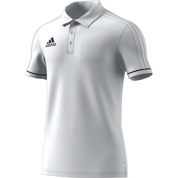 adidas Tiro 17 White/Black Cotton Polo